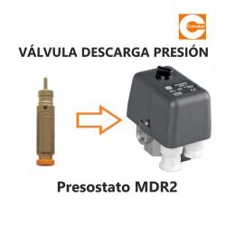VÁLVULA DESCARGA PRESIÓN PRESOSTATO CONDOR MDR2